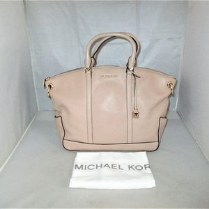 Michael Kors Beckett Large Leather Satchel